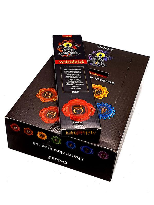 Goloka caja chakra muladhara incienso hecho a mano inciensoshop-tantra-press